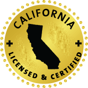 CA licensed and accredited seal